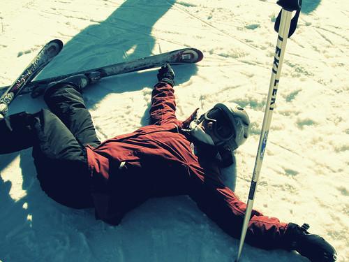 Skier down