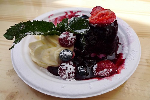 Summery berry pudding