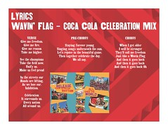Lyric sheet for Wavin Flag  Coca-Cola Celebration Mix  by K'NAAN (Shine 2010 - 2010 World Cup good news) Tags: lyrics song coke cocacola knaan wavingflag 2010worldcup