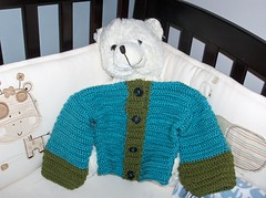 Baby sweater (ruali) Tags: blue winter boy baby cute green girl kids infant warm acrylic handmade teal yarn jacket swater ruali
