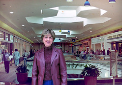 In the Mall, Out from the Cold (Barbara Jane Carter) Tags: light selfportrait shopping commerce malls transgender indoors filmcameras