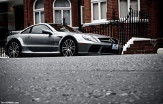 SL65AMG BS. (Denniske) Tags: street uk summer england black london canon photography eos grey gris mercedes benz is grigio united july grau kingdom automotive sl turbo arab 09 25 series mm 25th dennis 1785 bi 2009 efs 07 spotting 65 amg doha qatar grijs londen v12 arabs biturbo noten carspotting qtr f456 400d denniske dennisnotencom mercedesbenzsl65amgblackseriesbydennisnotencom