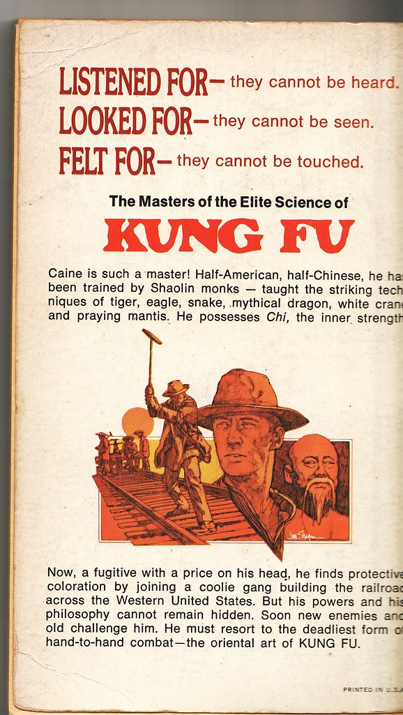 Kung Fu Back Cover
