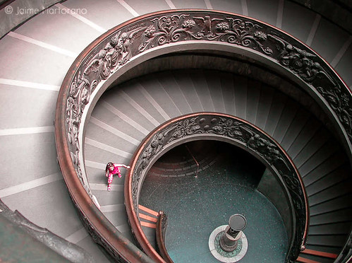 Museum Staircase in Italy