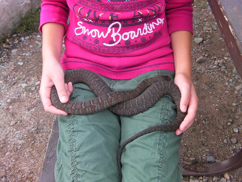 Sara with water snake