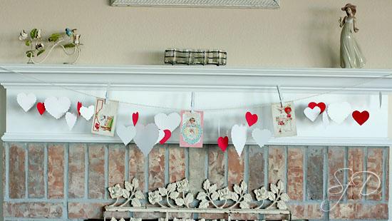 vintage valentine garland