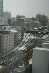 View of Sapporo station from hotel room (ezra wolfe) Tags: plaza sapporo keio