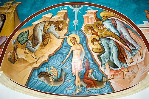 cc David Bjorgen 800px-Mural_-_Jesus'_Baptism