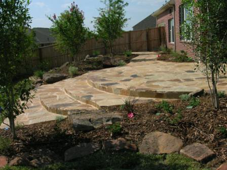 Patios residential landscaping