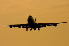 Early morning arrival (dyulgerov) Tags: morning boeing boeing747 jumbo sof atlasair sofiaairport boeing747400f
