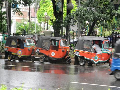 Becaks in Jakarta