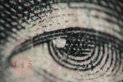 The Eye of Abe (hsmoscout) Tags: money macro eye closeup canon dollar lincoln abe canonrebelxs 5bill