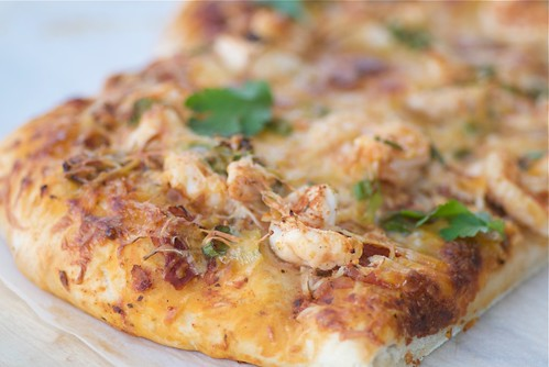 tequila-lime shrimp pizza