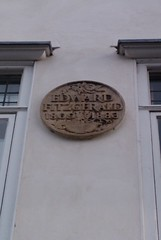 Photo of Edward Fitzgerald stone plaque