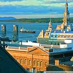 Québec: Vue sur le fleuve et Petit-Séminaire