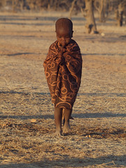 Himba child at dawn (Gusjer) Tags: africa people dawn african culture tribal safari afrika tribe ethnic namibia tribo himba afrique ethnology tribu opuwo namibie tribus ethnie