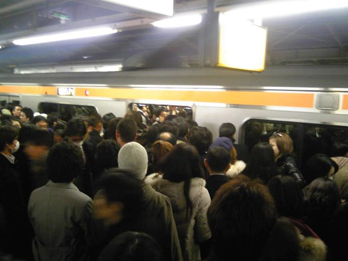 Crowded Train Shinjuku 2