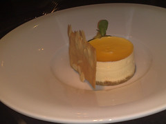 Passion Fruit Cheesecake at The Rutland Hotel Restaurant, Edinburgh