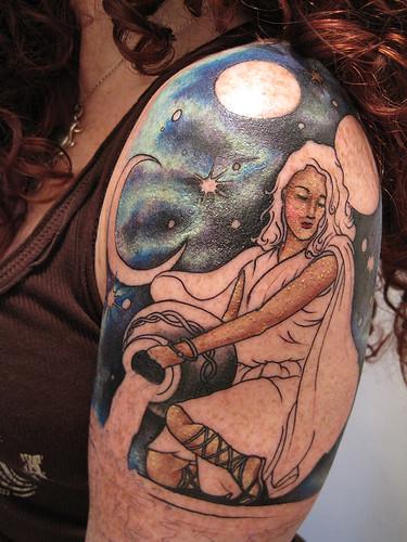 Half Sleeve Aquarius Tattoo Design