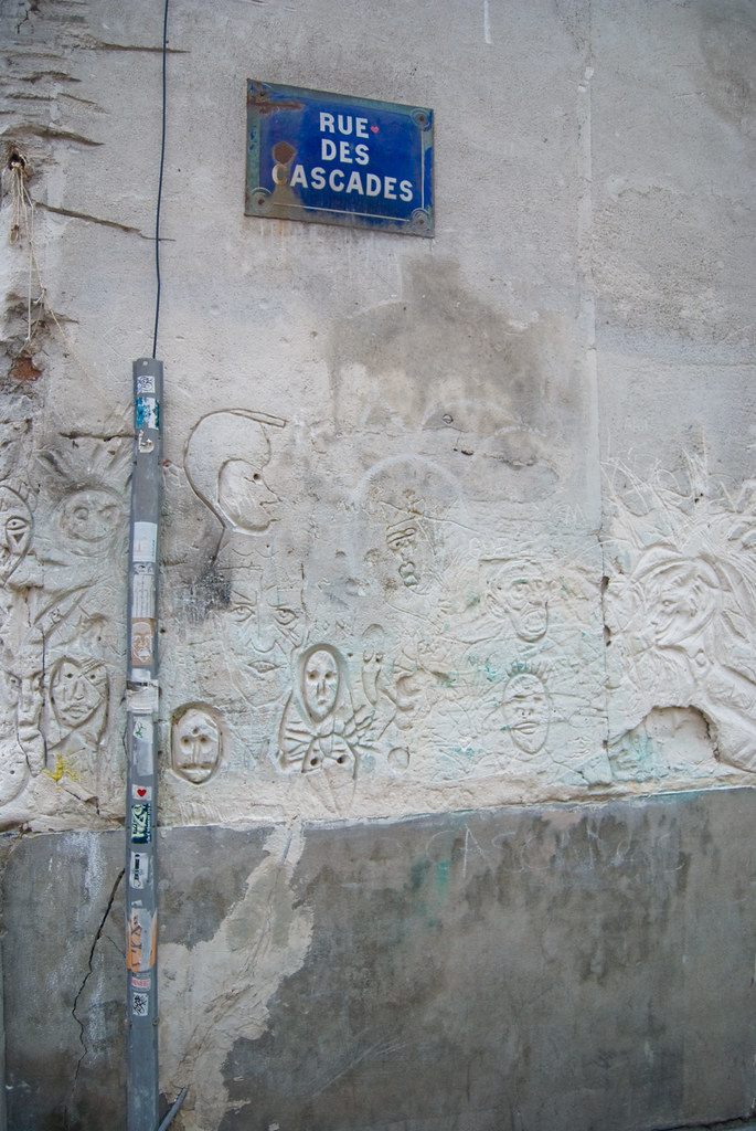 Mur de la rue des Cascades