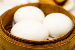 steamed buns filled with custard