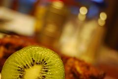 kiwi (ladybugdiscovery) Tags: hbw kiwi fruit green seeds juicy bokeh dof muffin spice spices bokehliciousimage breadfast blur ladybugdiscovery