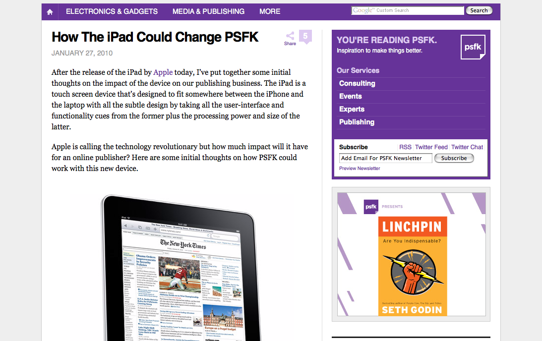 How The iPad Could Change PSFK - PSFK_1264678541078