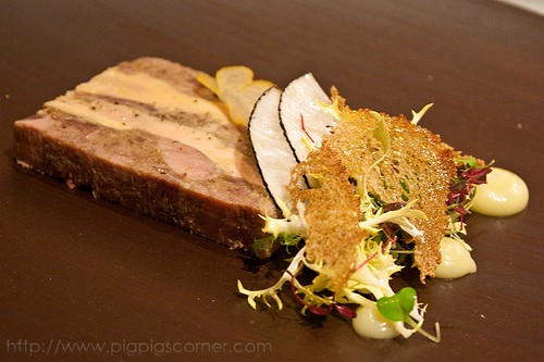 Hibiscus, London foie gras