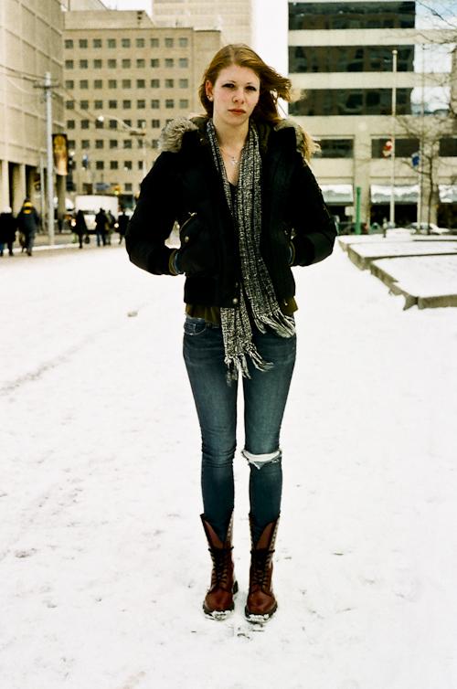 Red Boots, Toronto Street Fashion @ Dundas St. W., Toronto