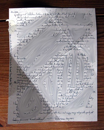 Unfolded letter