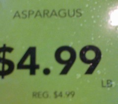 asparagus on sale?