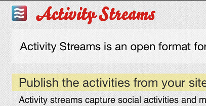 Presence of logotype for Activity Streams