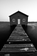 Crawley Edge Boatshed (KC Tan Photography) Tags: blue sunset blackandwhite water monochrome river jetty timeexposure perth kingspark westernaustralia swanriver boatshed crawley mountsbayroad blackwhitephotos daviddicks jonsanders kingsparkavenue crawleyedgeboatshed tokinaatx116prodx nikond300s