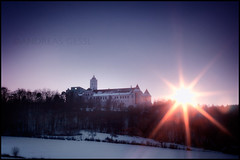 sunset schallaburg (andreas gessl) Tags: winter sunset sky snow castle museum austria andreas lower schloss niedersterreich hdr burg twop schallaburg autria gessl andreasgessl