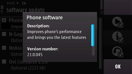 N97 Software Update 2.1