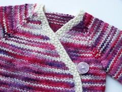 Be Mine SMSS Kimono - MM A Year and a Day BFL Aran 0-6mo Size OPTIONAL Sm. Longies in PINK