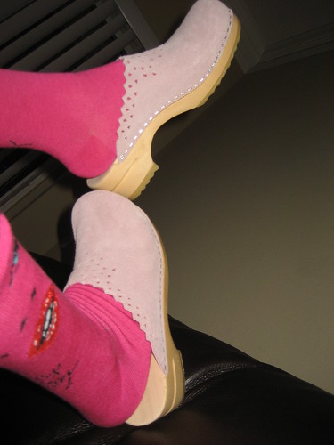 f995cc7979ca Pink clogs · Pink clogs by Malu Bondoc ( Figurative Mosaic ) · White  Birkenstocks - Summer 2004