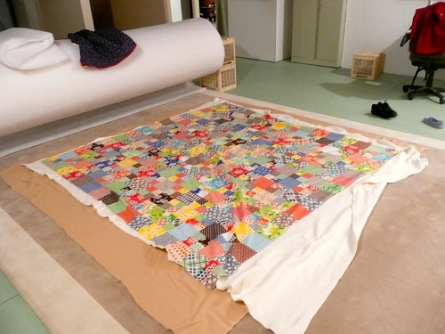 Getting the Katie Jump Rope quilt ready