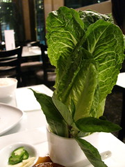 Lettuce & Thai Basil (for lettuce wraps) @ Anju