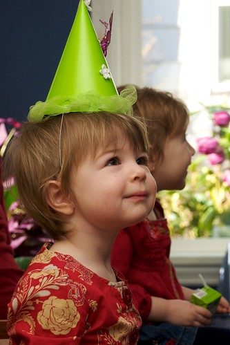Birthday Girl with Party Hat