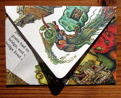 back of the folded envelope: trollbird