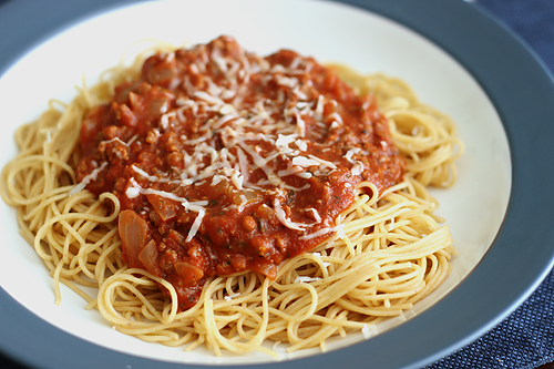 how to cook spaghetti sauce without meat