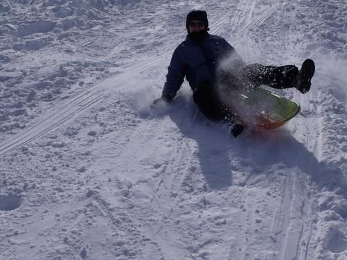 Elizabeth sledding