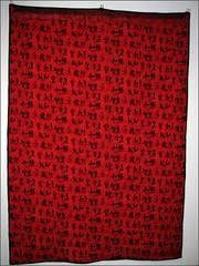 Paint It Black quilt, the back
