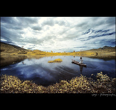 symphony in the morning (yoga - photowork) Tags: morning sky panorama mountain lake reflection nature clouds canon indonesia lens landscape ir photography wideangle v3 canon350d infrared symphony 1022mm anawesomeshot beautifulindonesia visitindonesia infraredpanorama
