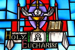Holy Eucharist (Communion) (Loci Lenar) Tags: new news art church religious photography catholic image rss religion stainedglass images blogs christian photoblog catholicchurch bloglines feed christianity stainedglasswindow feeds holycommunion christianart holyeucharist