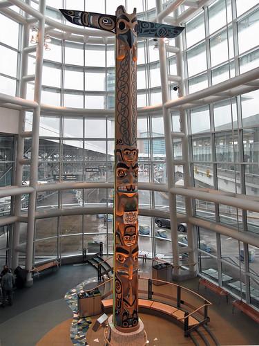 YVR Link Building Totem Pole