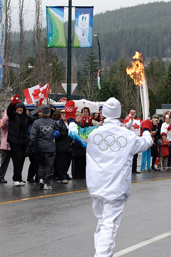 Olympic Torch in Lynn Valley, North Vancouver B.C. Feb 10 2010 -2