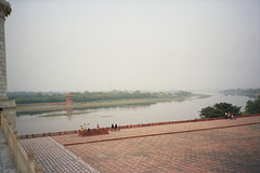 13A Agra, il fiume Yamuna dal Taj Mahal