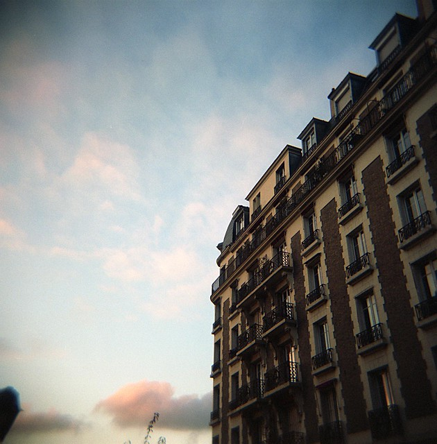 Paris Apartments. Holga. Kodak Portra 120 Film.